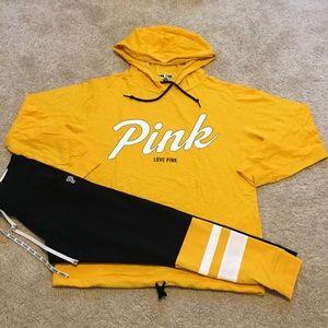 PINK lightweight Hooded/Leggings Large